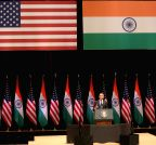 New Delhi: US President Barack Obama addresses at Siri Fort Auditorium