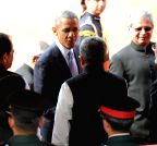 New Delhi: US President at Rashtrapati Bhawan