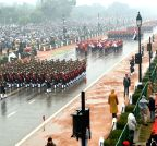 New Delhi: Women officers march during Republic Day Parade for the first time
