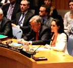 UN-NEW YORK-SYRIAN REFUGEES-ANGELINE JOLIE PITT