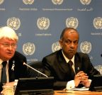 New York: Press conference - UN peacekeeper