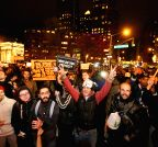 New York: Demonstration after Ferguson shooting ruling