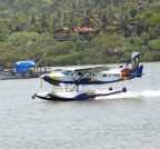 Panaji: Trials of sea plane lands at River Mandovi