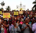 Panaji: Catholic community's candle light vigil