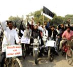 Patna: Activists demonstration