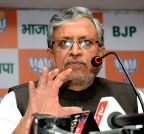 Patna: Sushil Kumar Modi's press conference