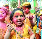 Patna: Holi celebrations