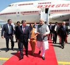 PM Modi arrives at ``Tashkent -1`` Airport