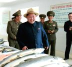 DPRK-KIM JONG UN-FISH FARM-INSPECTION