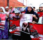 Relatives of disappeared persons demonstrate in Srinagar