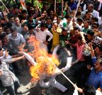 Shimla: Youth Congress demonstration against Anurag Thakur