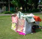 Siliguri: People setup makeshift tents in wake of earthquakes
