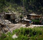 NEPAL-SINDHUPALCHOWK-EARTHQUAKE-TRANSPORT BLOCKAGE