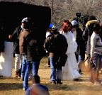 Srinagar: Aditya Roy Kapur and Katrina Kaif shooting for movie 'Fitoor'