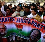 Srinagar: BJP rally to welcome PM Modi