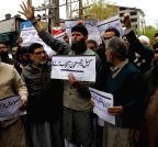 Srinagar: Demonstration against Narbal and Tral killings