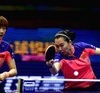 CHINA-SUZHOU-TABLE TENNIS-WORLD CHAMPIONSHIPS-WOMEN'S DOUBLES-FINAL