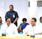 Telangana CM meets district collectors