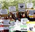 AISA demonstrate against abuse of women on social media