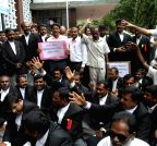 KSBC stage a demonstration against Y Bhaskar Rao