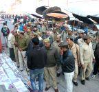 Varanasi: Policemen on high alert in Varanasi