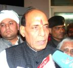 Varanasi: Rajnath Singh addressing media