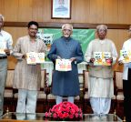 New Delhi: Hamid Ansari releases Hindi version of Narendra Dabholkar's book - `Andhvishwas Unmoolan`