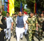 West Bengal: Rajnath Singh visits a Bangladeshi enclave in India