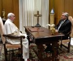 Pope Francis receives Argentine Prez