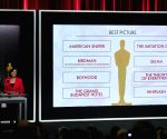 US LOS ANGELES OSCARS NOMINATIONS