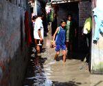 NEPAL KATHMANDU FLOOD SLUM AREA