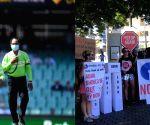 1st ODI: Protesters barge into SCG holding 'No $1B Adani Loan' signs