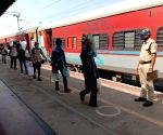 Rail services resume partially