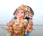 61-feet high Ganesh idol immersion