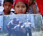 Bamars' demonstrate against police atrocities in Letpadan