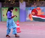 Wall painting on COVID-19 comes up for public awareness at District magistrate office Lajpat Nagar