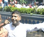 BJYM protest against hike in electricity bills