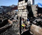 PHILIPPINES QUEZON CITY SLUM AREA FIRE
