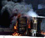 Ex-CM Manjhi's convoy attacked in Bihar, vehicle burnt