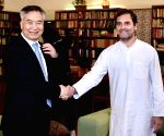 Chinese delegation calls on Sonia, Rahul