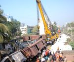 Goods train derailed in Mumbai