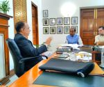 Vijay Goel meet Delhi University Vice Chancellor