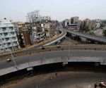 A deserted look Chiriyatar fly over during the first day lockdown was imposed to curb the spread of COVID-19, in Patna