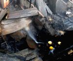 Fire breaks out at a plastic godown