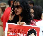 Demonstration against crime against women