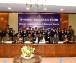 Students from Jammu on Bharat Darshan Tour meet Rajnath Singh
