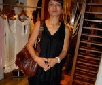 A guest at the fashion preview of designer Raakesh Agarwal in Mumbai Friday.