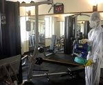 City hotel gyms sanitised amid COVID-19 pandemic