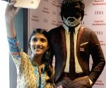 Chocolate statue of Rajinikanth