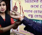 Women tie rakhi to spread peace